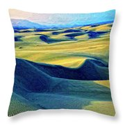 Sunrise At Oceano Sand Dunes  Throw Pillow