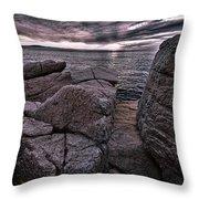 Sunrise At Otter Cliffs #5 Throw Pillow