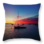 Sunrise At Provincetown Pier 1 Throw Pillow