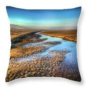 Sunrise At Rockaway Beach Oregon Throw Pillow