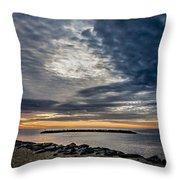 Sunrise At Rudee Inlet Throw Pillow