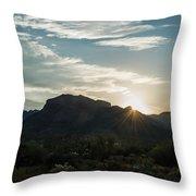 Sunrise At Sabino Canyon Throw Pillow