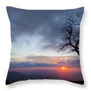 Sunrise At Saddle Overlook Throw Pillow
