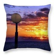 Sunrise At Sea Off The Delmarva Coast Throw Pillow