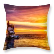 Sunrise At The Arch Throw Pillow
