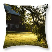 Sunrise At The Barn Throw Pillow