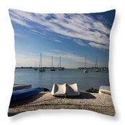 Sunrise At The Bay Throw Pillow