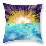 Sunrise At The Edge Of Earth Throw Pillow