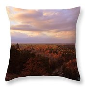 Sunrise At The High Rollaways Throw Pillow