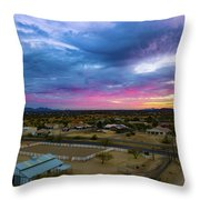 Sunrise At The Horse Barn Throw Pillow