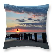 Sunrise At The Jersey Shore Throw Pillow