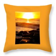 Sunrise At The Jetty Throw Pillow