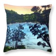 Sunrise At The Lake Throw Pillow