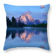 Sunrise At The Oxbow Throw Pillow