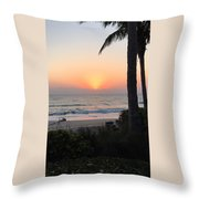 Sunrise At The Pipe Throw Pillow