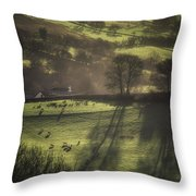 Sunrise At The Sheep Farm Throw Pillow