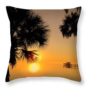 Sunrise At The Space Coast Fl Throw Pillow