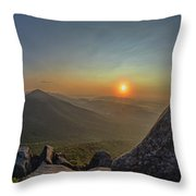 Sunrise At The Summit Throw Pillow