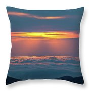 Sunrise At The Top Of The World Throw Pillow
