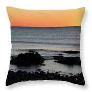 Sunrise At York Beach Throw Pillow