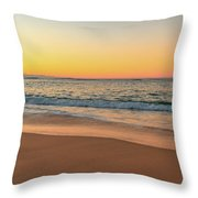 Sunrise Beach Seascape Throw Pillow