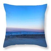 Sunrise Beach Walk Throw Pillow