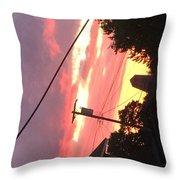 Sunrise Behind Cliffs Shaft Throw Pillow