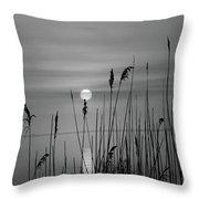 Sunrise Black And White  Throw Pillow