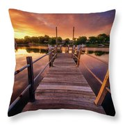 Sunrise By The Ramp Throw Pillow