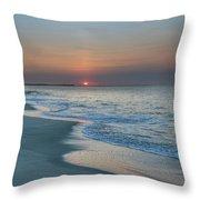 Sunrise - Cape May Beach Throw Pillow