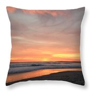 Sunrise Clouds Over The Atlantic November 5 2016 Throw Pillow