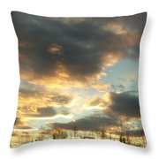 Sunrise Cloudscape Throw Pillow