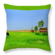 Sunrise - Country Australia Painting Throw Pillow