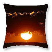 Sunrise Crown Throw Pillow