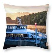 Sunrise Cruise To Doubtful Sound Throw Pillow
