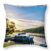 Sunrise Cruise To Doubtful Sound, New Zealand Throw Pillow