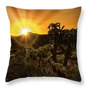 Sunrise Done With An Arizona Flare Throw Pillow