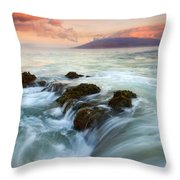 Sunrise Drain Throw Pillow