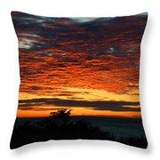 Sunrise Drama By The Sea Throw Pillow