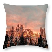 Sunrise Fire  Throw Pillow