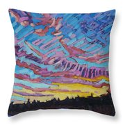 Sunrise Freezing Rain Deformation Zone Throw Pillow by Phil Chadwick