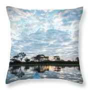 Sunrise From A Boat - Duck Inn Malawi Throw Pillow