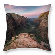 Sunrise From Angels Landing Throw Pillow