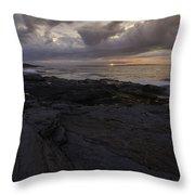 Sunrise From Beavertail In Jamestown Rhode Island Throw Pillow