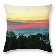 Sunrise From Maggie Valley August 16 2015 Throw Pillow