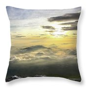 Sunrise From Mt. Fuji Throw Pillow