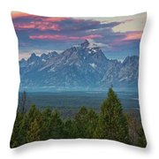 Sunrise From Signal Mountain Throw Pillow