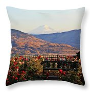 Sunrise From The Rose Garden Throw Pillow