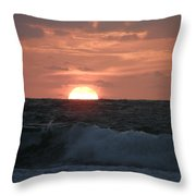 Sunrise From The Waves Throw Pillow