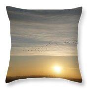 Sunrise Geese Throw Pillow